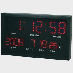 Horloge et calendrier mural à LED