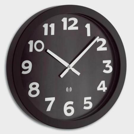 Horloge 40cm à gros chiffres blanc sur fond noir