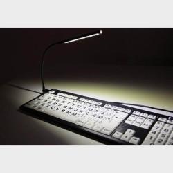 Lampe USB Flexible à 10 Leds touches blanches