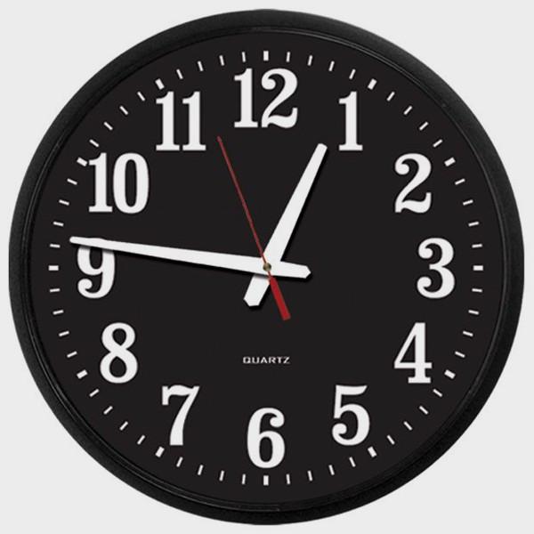 Horloge gros chiffres blancs sur noir pour malvoyants cflou - Accessoires pour malvoyants ...