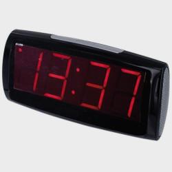 Petit réveil noir à gros chiffres lumineux rouges