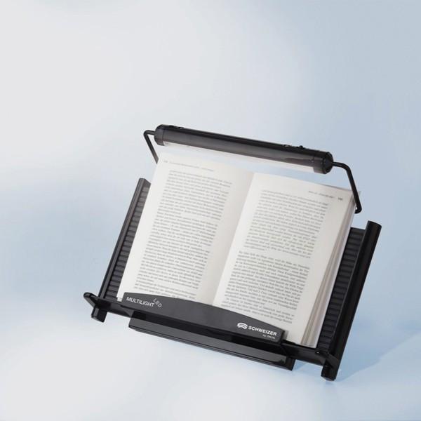 Pupitre lecture à lampe blanche texte