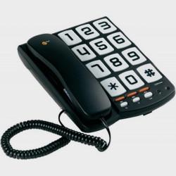 Téléphone filaire simpliste à grandes touches