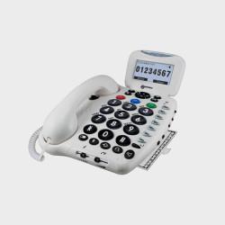 Téléphone filaire compatible appareil auditif