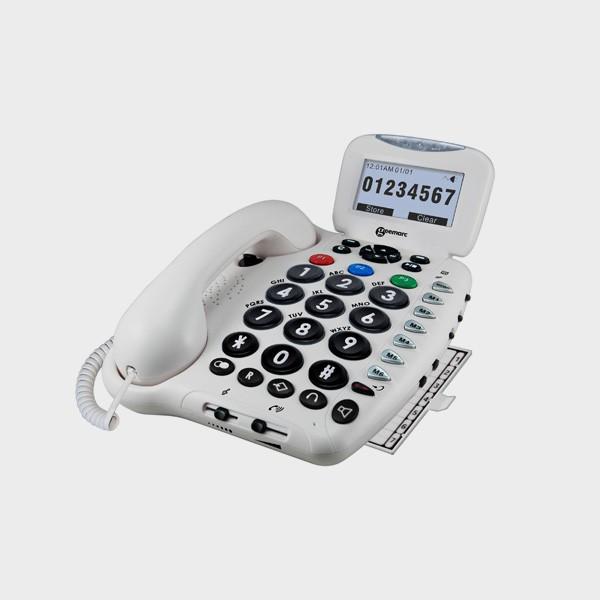 Téléphone filaire grosses touches compatible appareil auditif