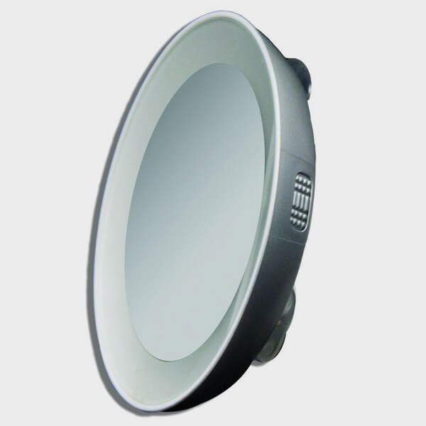 Miroir grossissant avec clairage et ventouse cflou for Miroir grossissant ventouse