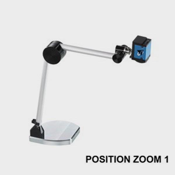 Vidéo-Agrandisseur et système de lecture portable position zoom 1
