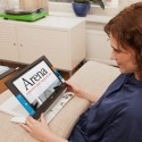 Tablette d'agrandissement avec écran incliné et fort grossissement