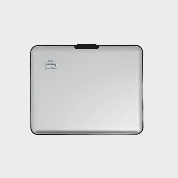 Porte-carte moderne en aluminium avant