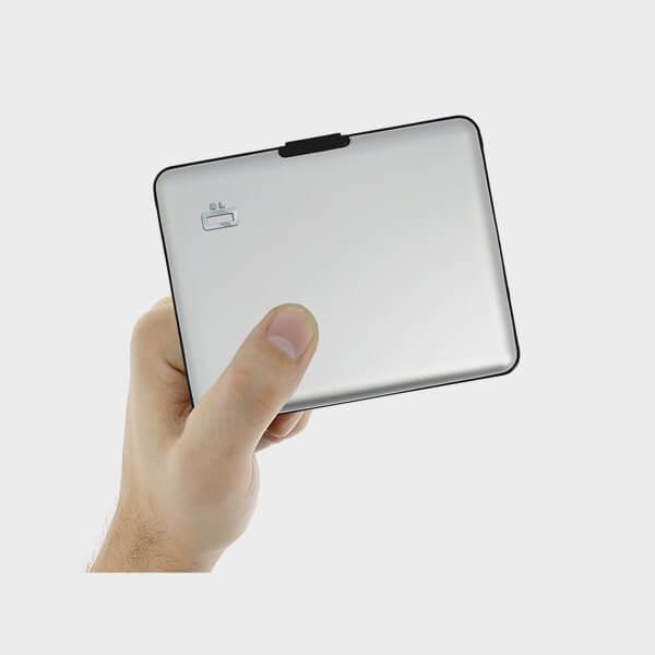 Porte-carte moderne en aluminium test