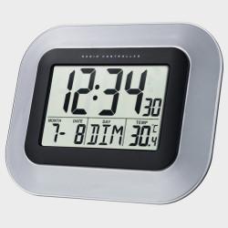 horloge calendrier à gros chiffres gris