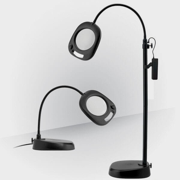 lampe loupe led sur pied daylight cflou. Black Bedroom Furniture Sets. Home Design Ideas