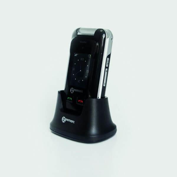 Téléphone portable à clapet CL8500 sur socle