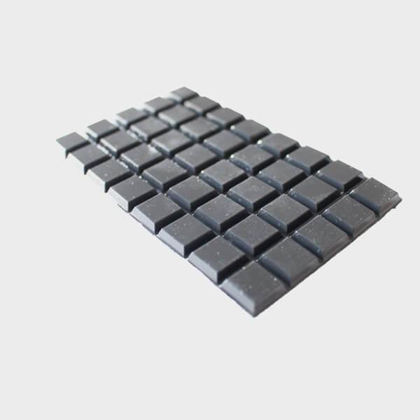 40 Pastilles carrées autocollantes en reliefs