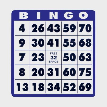 Carte Bingo gros caractères (lot de 10)