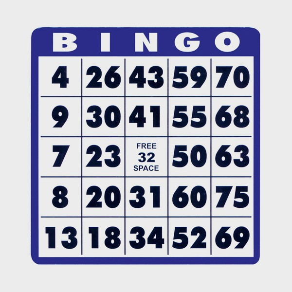 Super Carte Bingo gros caractères (lot de 10) - Cflou BU69