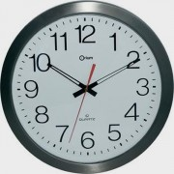 Horloge à gros chiffres en inox