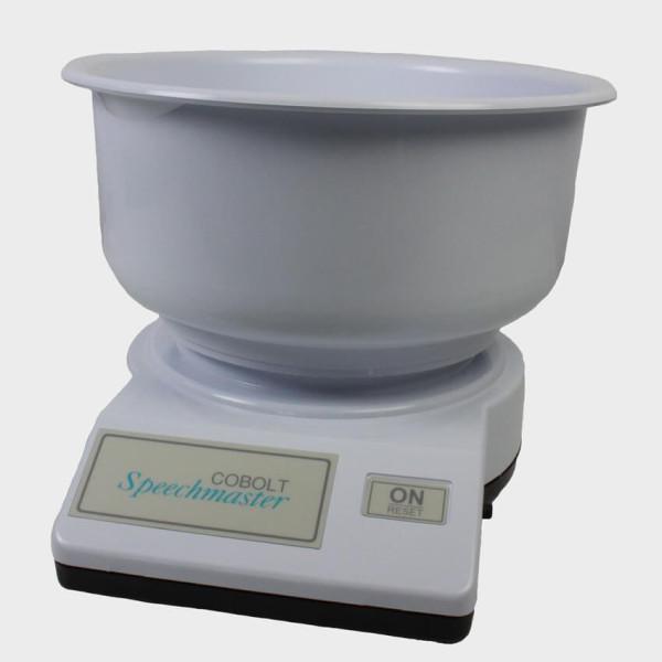 Balance de cuisine vocale avec bol