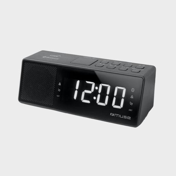 Radio réveil gros chiffres Bluetooth
