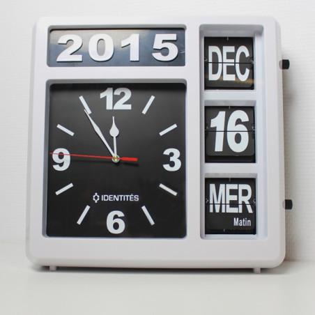 Horloge calendrier à poser ou à fixer