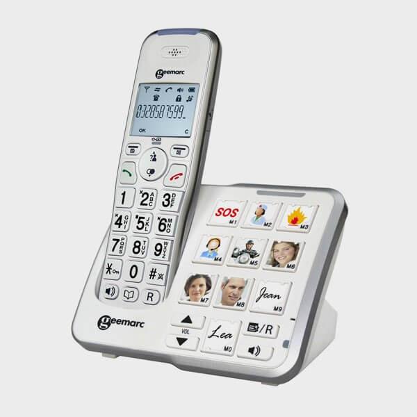 Téléphone parlant sans fil grosses touches