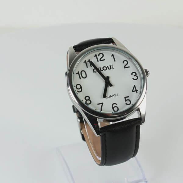 Montre XL gros chiffres bracelet cuir à gros chiffres