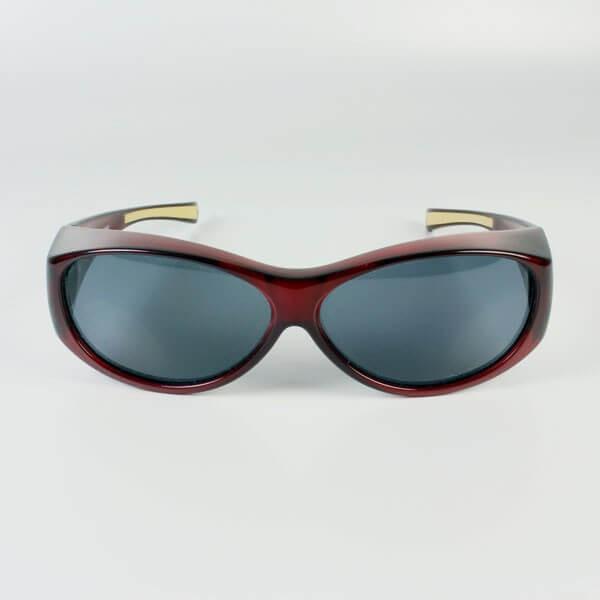 Sur-lunettes rouge filtre polarisé gris anti lumière bleue