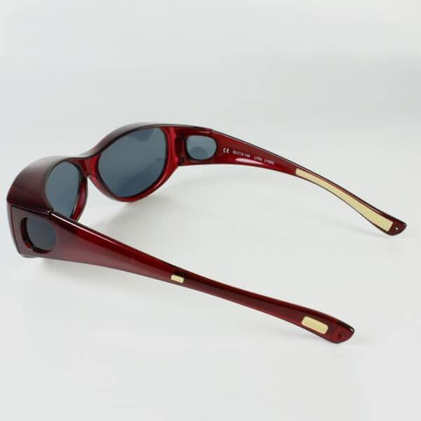 Sur lunette rouge filtre polarisé gris anti lumière bleu