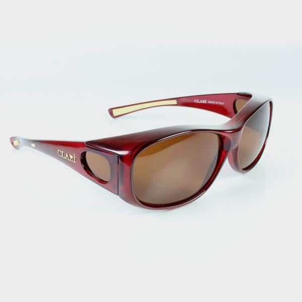 Sur lunettes rouge filtre polarisé marron anti lumière bleue