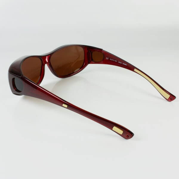 Sur lunettes rouge filtre polarise marron anti lumière bleue