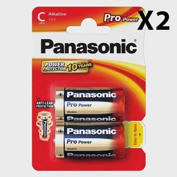 Pack de 2 x 2 piles LR14