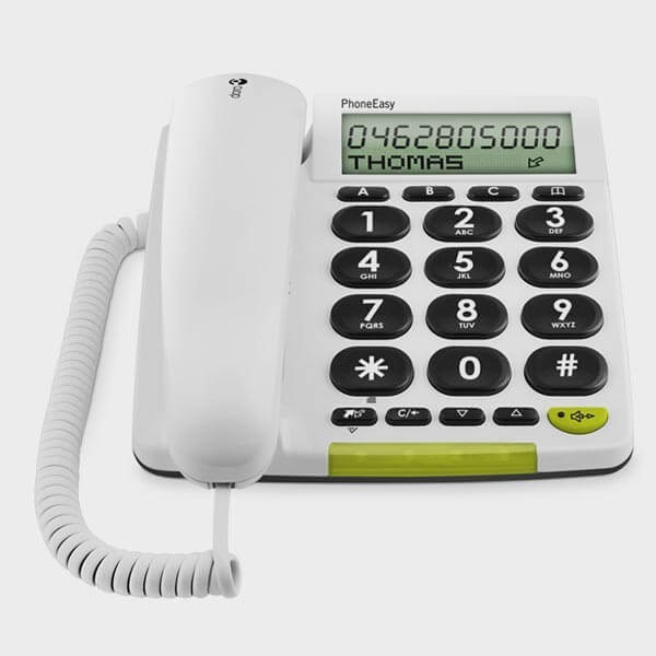 t l phone filaire grosses touches doro 312 cs cflou. Black Bedroom Furniture Sets. Home Design Ideas