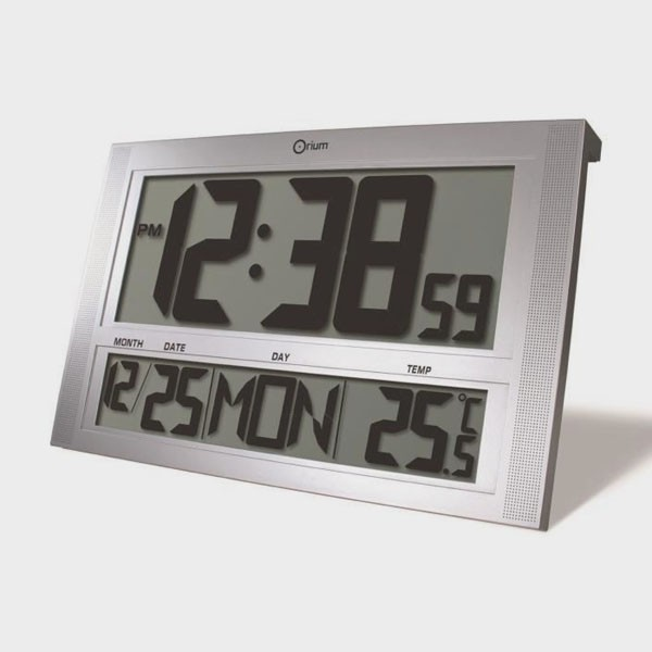Horloge calendrier rectangulaire gros chiffres