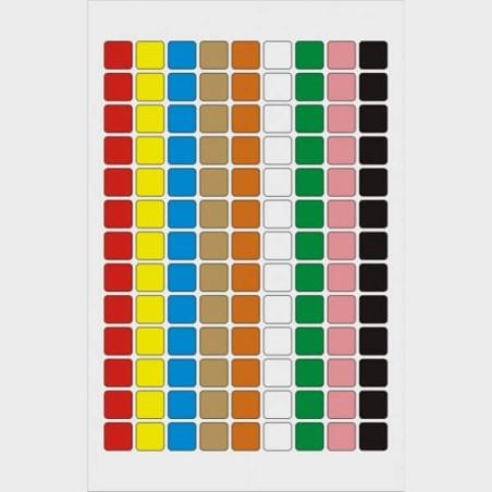 Pack de repères visuels colorés autocollants