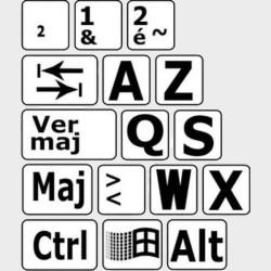 Autocollants clavier francais
