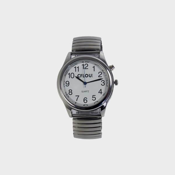 Montre parlante simplifiée bracelet extensible - édition limitée
