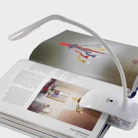 Lampe de lecture à clipser et bras flexible