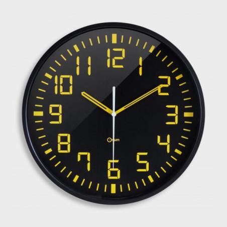 Horloge silencieuse gros chiffres jaune