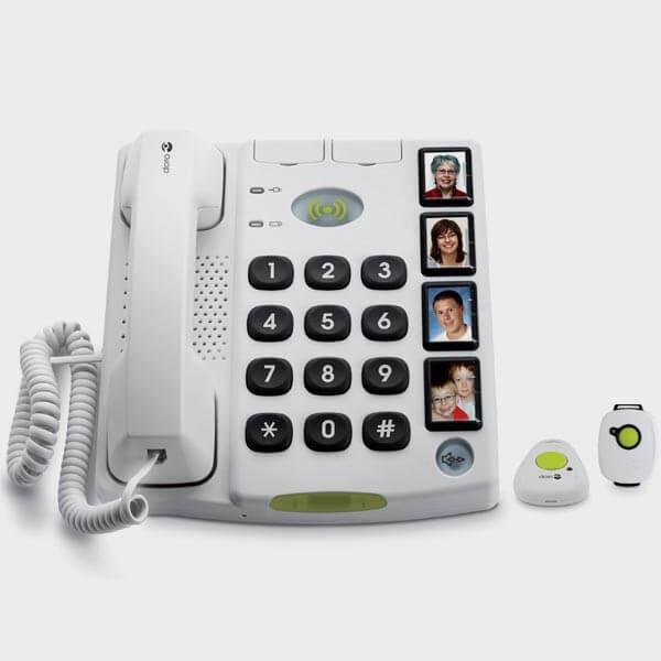 Téléphone filaire Doro avec photo et télécommandes