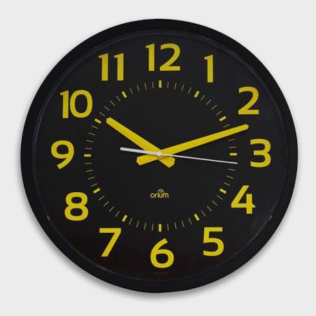 Horloge silencieuse XXL à gros chiffres jaune