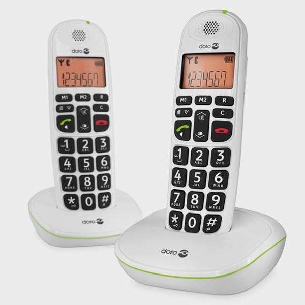 2 Téléphones sans fil et grosses touches DORO 100W - reconditionné