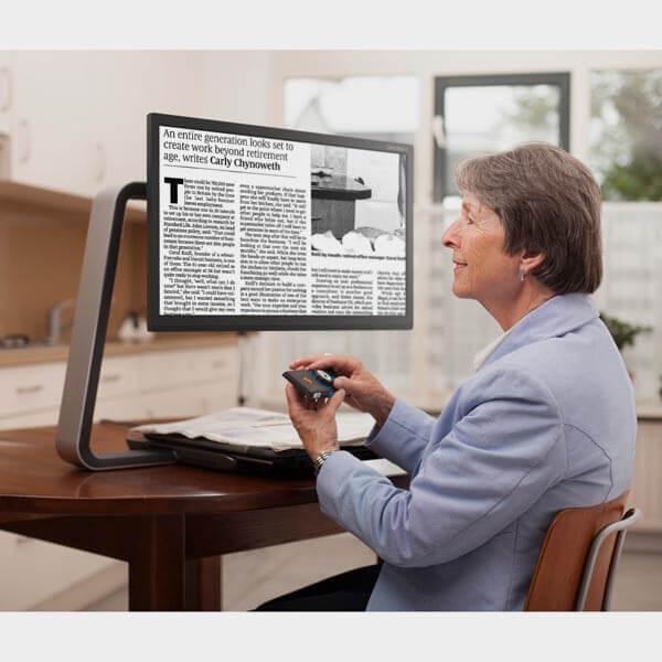Téléagrandisseur ClearView C utilisation du panneau de contrôle