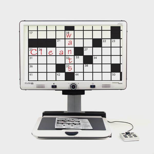 Téléagrandisseur permettant l'écriture et les mots croisés