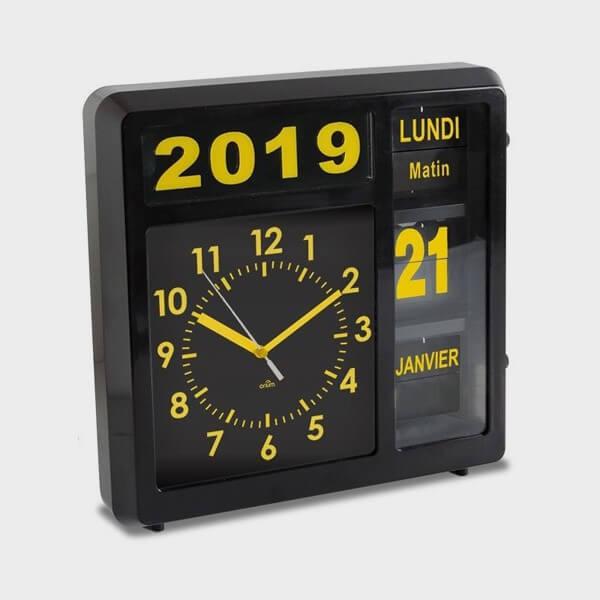 Horloge calendrier gérante à volets