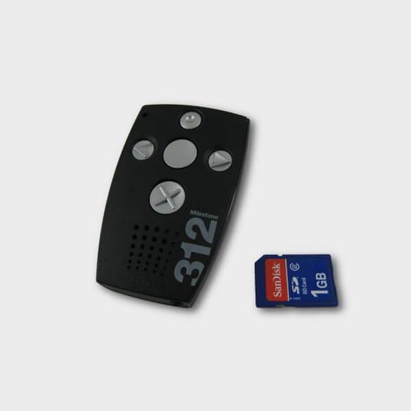 Dictaphone et lecteur audio Milestone 312 Ace