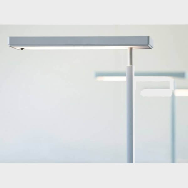 lampadaire RADIAN LUDIC Touch blanc vue laterale