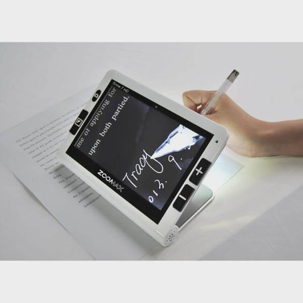 Loupe électronique Zoomax Snow 7 HD pour écrire