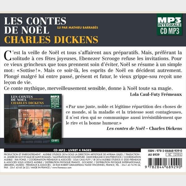 Livre audio - CHARLES DICKENS - LES CONTES DE NOËL - INTÉGRALE