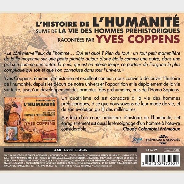 Livre audio - YVES COPPENS - L'HISTOIRE DE L'HUMANITÉ