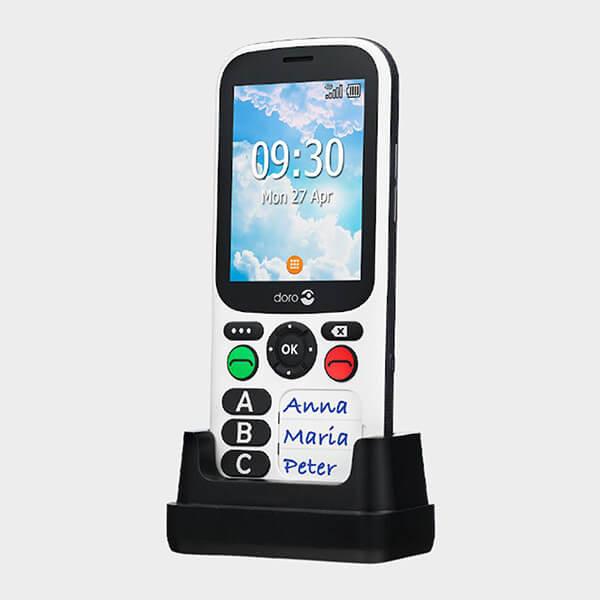 Téléphone grosses touches doro 780X avec socle